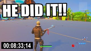 Official WORLD RECORD 100 Level Default Deathrun! (Fortnite Creative)