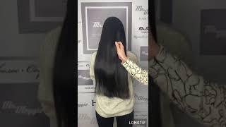 Наращивание волос по пояс