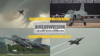 SAAB GRIPEN DISPLAY - FARNBOROUGH 2012 (airshowvision)