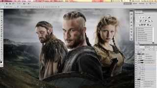 Making of icflix Vikings artwork