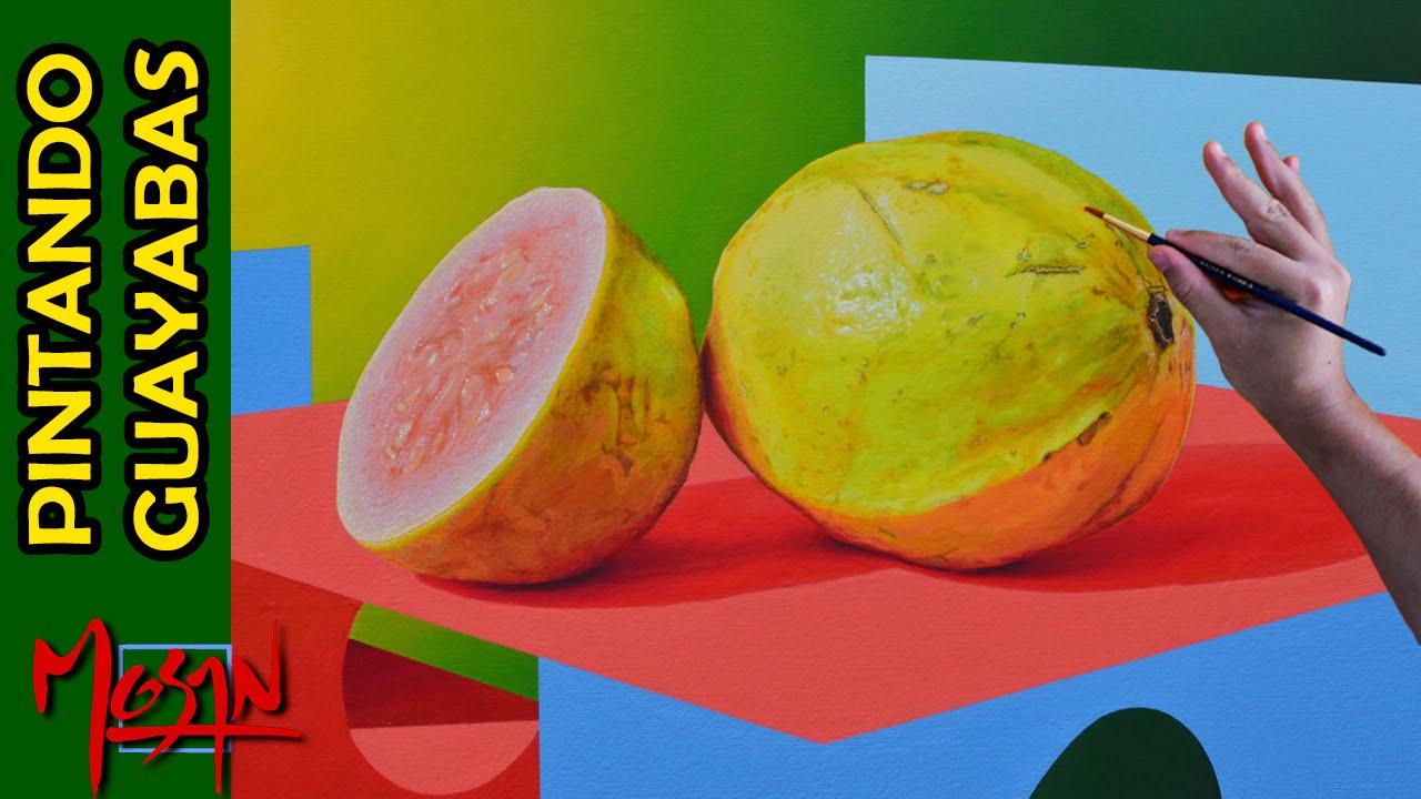 Como pintar frutas al leo pintando guayabas hiperrealismo - Como pintar al oleo paso a paso ...