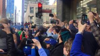 Chicago Cubs 2016 Victory Parade at Michigan Avenue