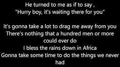 Toto - Africa LYRICS
