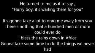 Toto - Africa LYRICS Video