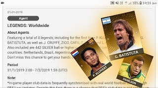 New legends are coming in pes 19 mobile ||pes 19 || captain boomerang
