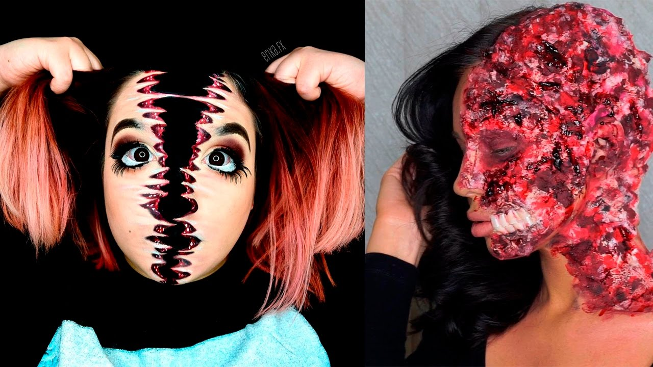 easy halloween makeup step by step