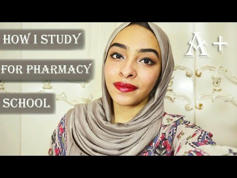 How I study in pharmacy school & get high grades | University study routine