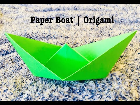 How to make a Paper Boat   Very Easy DIY   Origami