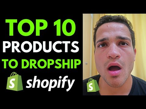 TOP 10 PRODUCTS TO DROPSHIP RIGHT NOW (Shopify Dropshipping Winning Products 2019) thumbnail
