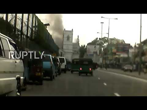 Sri Lanka: Dashcam footage captures the moment of Colombo church bombing