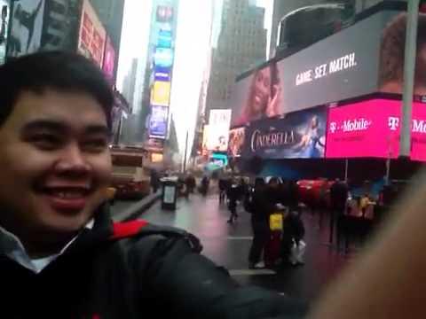 Acting like a tourist