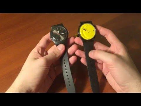Часы SWATCH подделка против оригинала EBay Vs SWATCH