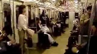Japanese Girl Crashed on Train so quiet