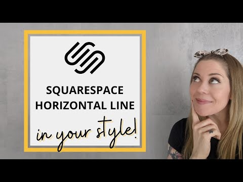 How To Change The Horizontal Line In Squarespace // Squarespace CSS Tutorial