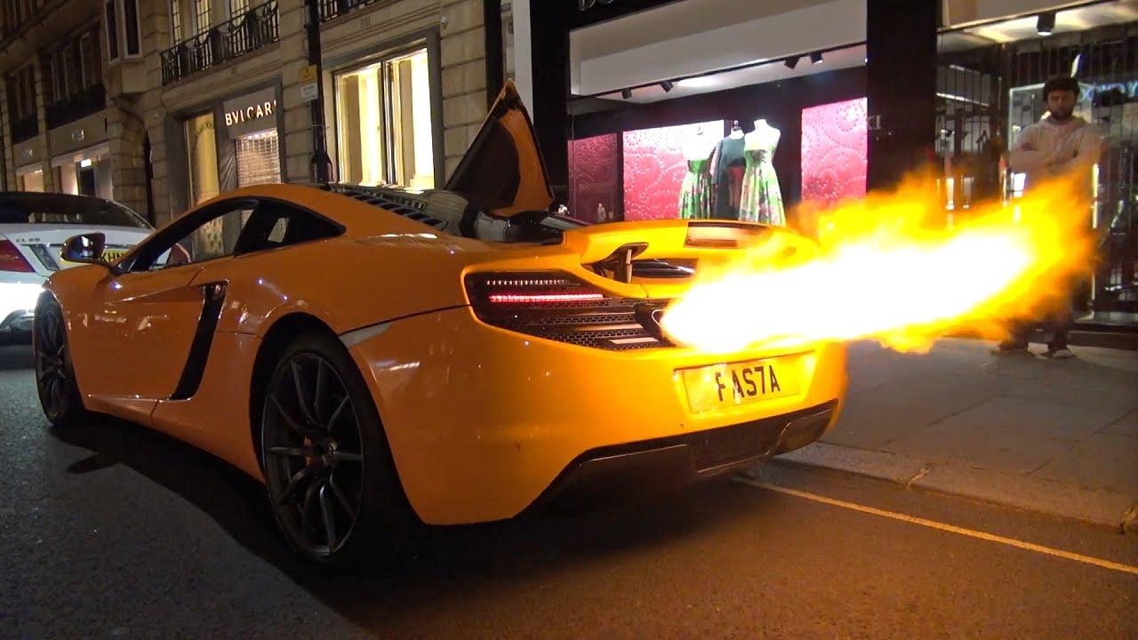 Car Spitting Flames Wallpaper Mclaren 12c Shooting Huge Flames Melted Bumper Youtube
