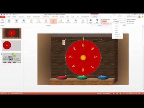 สาธิต PowerPoint การสร้างเกมวงล้อนำโชค Fortune Wheel และนิทานประกอบเสียงแบบ Interactive