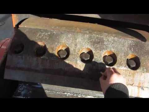 Drum chipper drum cutter with blade