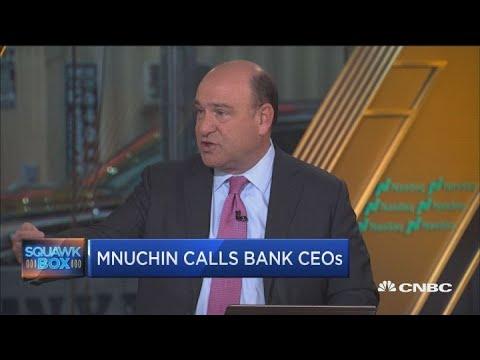 Why did Secretary Mnuchin call bank CEOs?