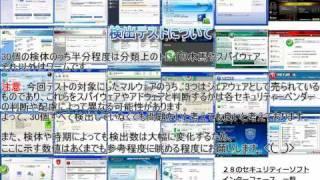 セキュリティーソフト28製品の紹介と検出テスト 2010