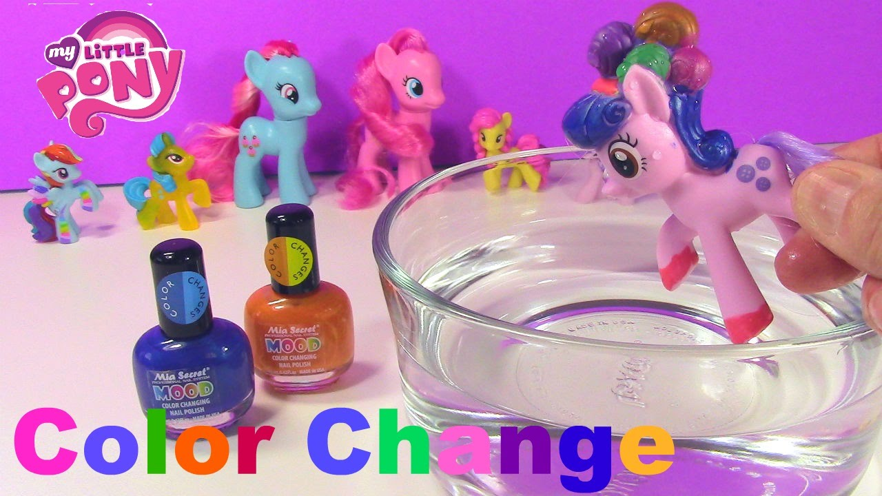Color Change My Little Pony Diy Nail Polish Craft