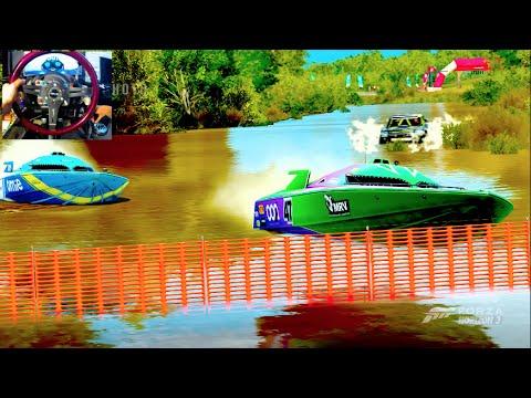 Forza Horizon 3 GoPro LP Ep9 - ShowCase #3 SpeedBoats Vs Truck!