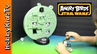 Angry Birds Star Wars Jenga Game + Toy Open, Review and Play HobbyKidsTV