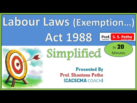 Labour Laws (Exemption...) Act 1988 = ( Full )