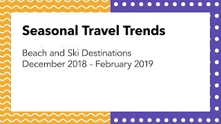 Seasonal Travel Trends 2019 | Hotel Ski and Beach Destinations