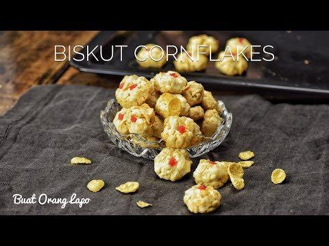 Tutorial Resepi Biskut Cornflakes Crunchy Sukatan Cawan - Resepi Lezat