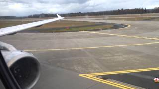 Lufthansa Airbus A321-100 Windy and Hard Landing + Taxi at Frankfurt am Main International Airport