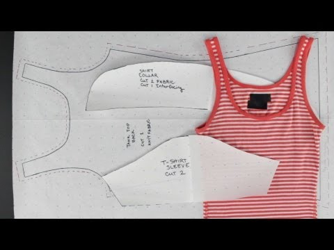How to Create Patterns from Existing Clothing - Simple Tops