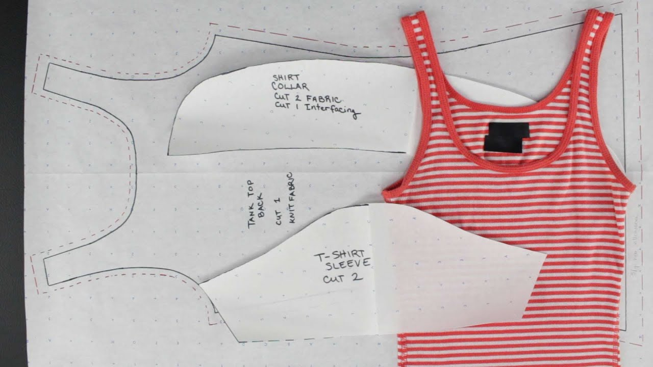 How to create patterns from existing clothing simple How to design shirt