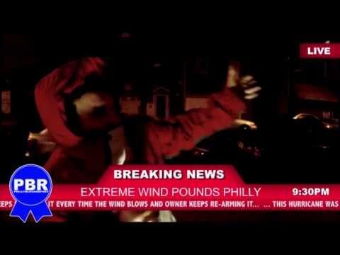 Extreme Wind In Philadelphia Amidst Hurricane Sandy