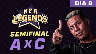 FREE FIRE AO VIVO - NFA LEGENDS SEASON 1 -  GRUPO A x C - DIA 8