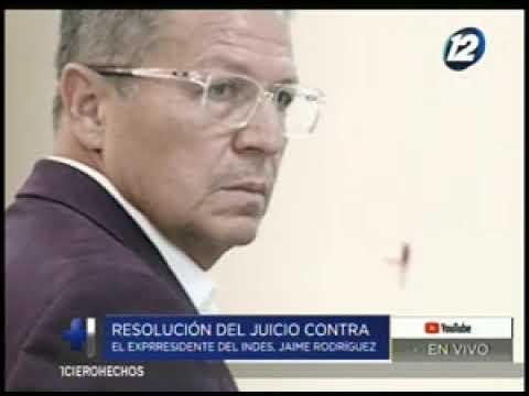 Resolución del juicio contra el expresidente del INDES