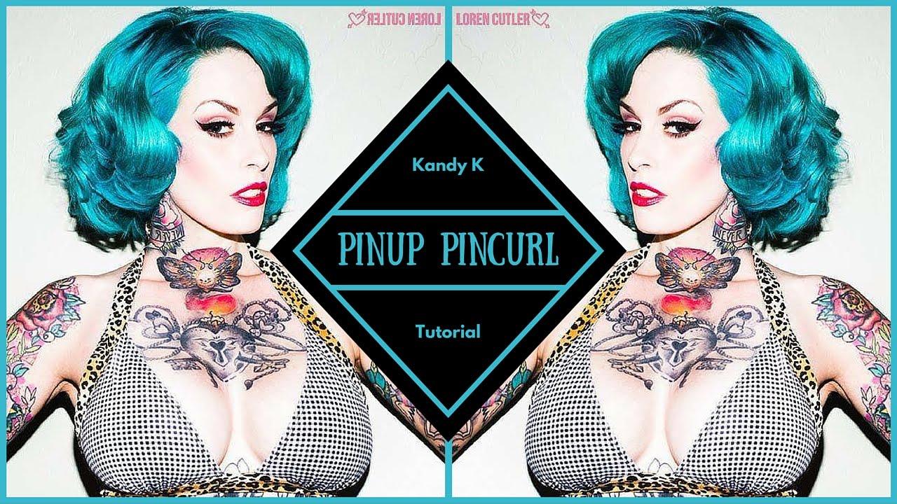 Retro pinup short hair pin curl tutorial youtube urmus Images