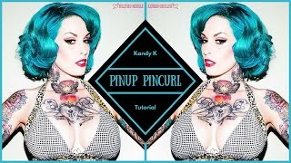 Retro Pinup Short Hair Pin Curl Tutorial