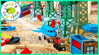 NO ONE IS ALLOWED IN DAD'S TRAIN SECTION! Thomas and Friends MEGA FLOOR TRACK