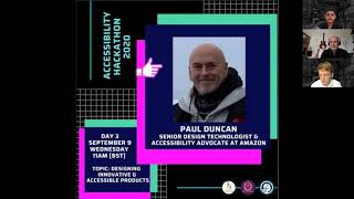 Accessibility Hackathon 2020: Paul Duncan on accessible tech