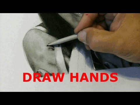 HOW TO Draw Hands | Graphite and Charcoal | Realistic Drawing Tutorial