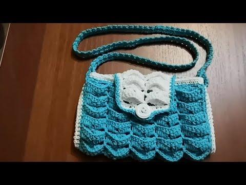 Вязаная детская сумочка крючком схема
