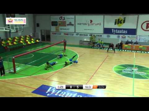 Czhech Republic Slovenia Men 1 game 2015 IBSA Goalball European Championships Kaunas Lithuania