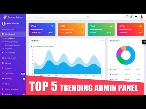 TOP 5 Stunning CSS 3 & HTML 5 Trending Admin Panel In 2019