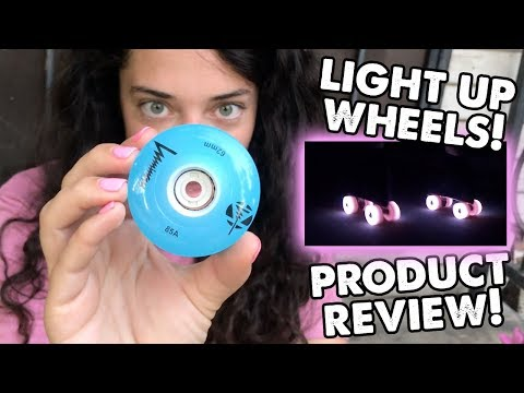 LUMINOUS LIGHT UP WHEEL REVIEW! | Planet Roller Skate