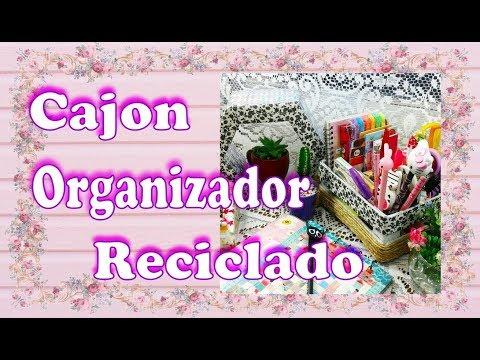 Cajon organizador reciclado