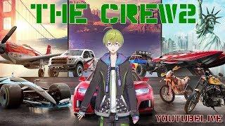 [LIVE] 【the Crew2】渋谷ハジメがニューヨークで運転してみた【レースゲーム】