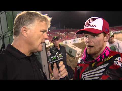 Monster Energy Cup 2014 - Podium Interview with Trey Canard