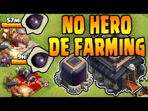 3 NO HERO DE FARMING METHODS - Easy TH9 Dark Elixir Farming Armies - Clash of Clans
