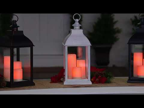 Candle Impressions Large Indoor/ Outdoor Lantern with 3 Candles on QVC