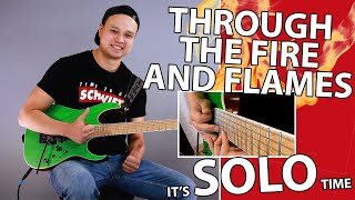 DragonForce - Through the Fire and Flames (Solo GUITAR Cover + Tabs)